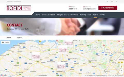 Screenshot of Contact Page bofidi.eu - Contact - BOFIDI - captured July 5, 2018