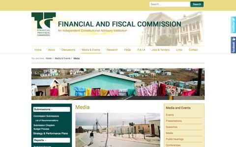 Screenshot of Press Page ffc.co.za - Media - captured Nov. 25, 2016