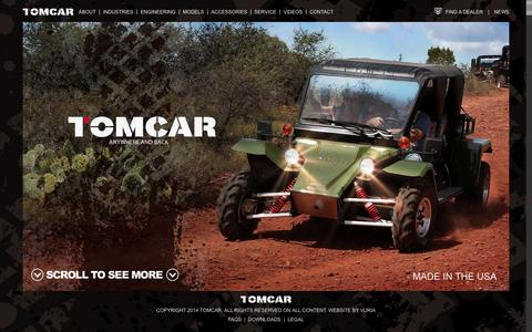 Screenshot of Home Page tomcar.com - Off-Road Vehicles | Recreational Vehicles | TOMCAR - captured Oct. 1, 2014