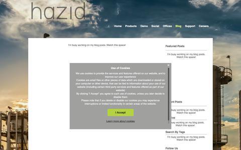 Screenshot of Blog hazid.com - Intelligent Engineering | Hazid Technologies Ltd. | UK | Blog - captured July 22, 2017