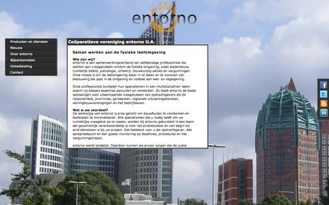 Screenshot of Home Page Site Map Page entorno.nl - entorno - samenwerkende professionals - captured Oct. 3, 2014