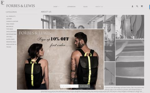 Screenshot of About Page forbesandlewis.com - About Us   Forbes & Lewis - captured Aug. 4, 2016