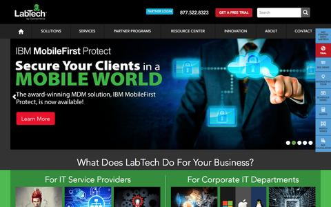 Screenshot of Home Page labtechsoftware.com - LabTech Software | Powerful IT Automation Software - captured Dec. 6, 2015