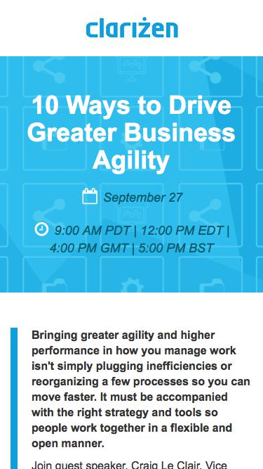 10 Ways to Drive Greater Business Agility