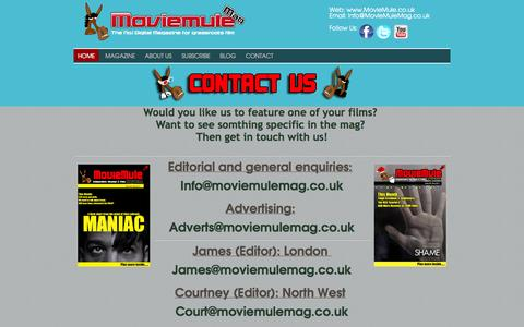 Screenshot of Contact Page moviemule.co.uk - Contact - captured Oct. 26, 2014