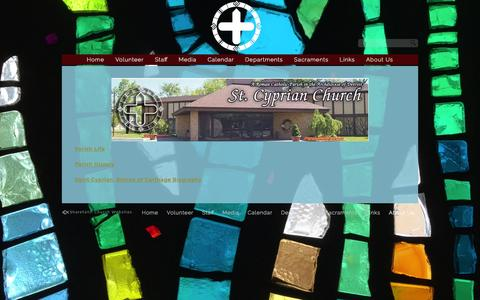 Screenshot of About Page stcyprian.com - About Us «  St. Cyprian Catholic Church - captured Feb. 22, 2016