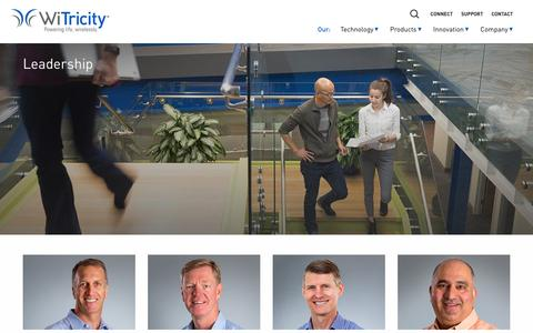 Screenshot of Team Page witricity.com - Leadership - WiTricity - captured Feb. 11, 2017
