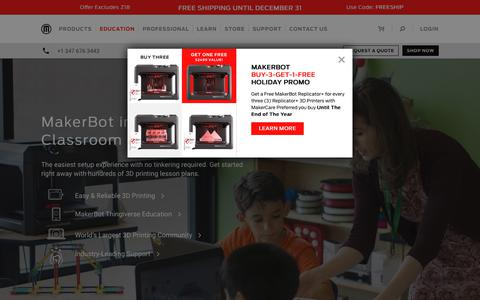 3D Printing for K-12 and Higher Education | MakerBot