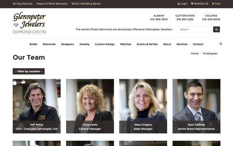 Screenshot of Team Page glennpeterjewelers.com - Glennpeter Jewelers:  Our Team - captured Nov. 7, 2016