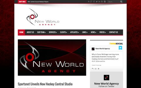 Screenshot of Home Page newworldagency.com - New World Agency official website | New World Agency is a sports management firm that aims to provide elite athletes with unparalleled professional representation in North America's most competitive and lucrative sporting associations. | New World Ag - captured Sept. 30, 2014