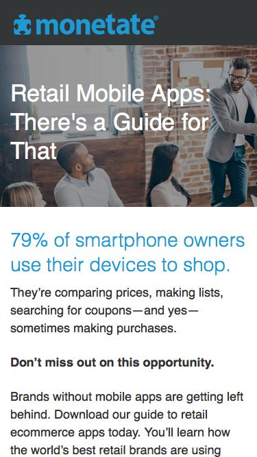 Monetate Ebook: Retail Mobile Apps: There's a Guide for That