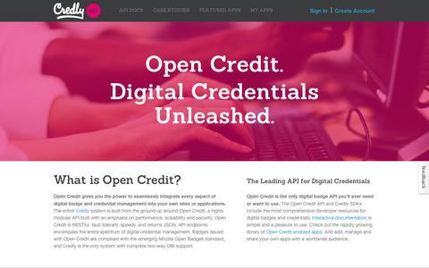 Screenshot of Developers Page credly.com - Credly Dev Portal - captured Sept. 19, 2014