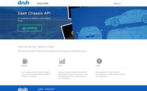 Screenshot of Developers Page dash.by - Dash API - captured Oct. 30, 2014