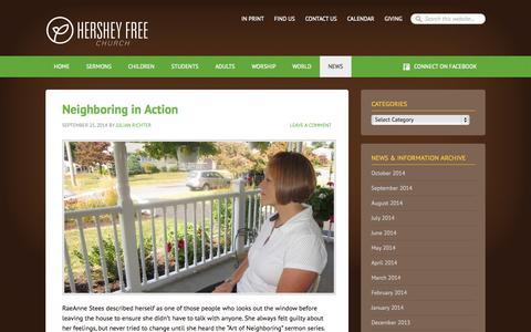 Screenshot of Press Page hersheyfree.com - Hershey Free News & Information - captured Oct. 3, 2014