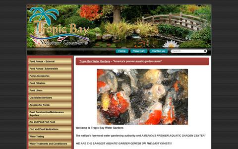 "Screenshot of Home Page tropicbaywatergardens.com - Tropic Bay Water Gardens – ""America's premier aquatic garden center"" - captured Oct. 20, 2018"
