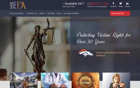 Screenshot of Home Page fdazar.com - Franklin D. Azar & Associates, P.C. - Colorado Personal Injury Lawyers - captured Oct. 11, 2018