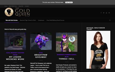Screenshot of Blog thegoldqueen.com - Blog | Warcraft Gold Queen Guides - captured Nov. 11, 2016