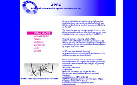 Screenshot of Home Page apbg.nl - apbg.nl - captured Sept. 30, 2014