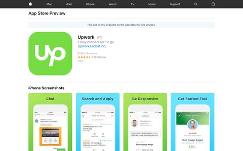 Upwork on the AppStore