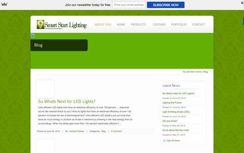Screenshot of smartstartlighting.com - Blog - Smart Start Lighting - captured Oct. 5, 2015