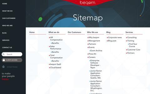 Screenshot of Site Map Page beqom.com - Sitemap   Beqom US-en - captured March 31, 2017