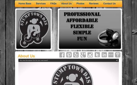 Screenshot of About Page stumptowndjs.com - Stumptown DJs - About Us - captured Feb. 26, 2016