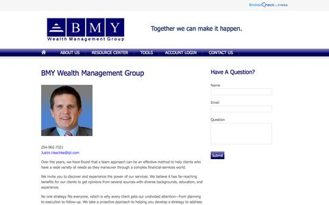 Screenshot of About Page bmywealth.com - About Us | BMY Wealth Management Group - captured Oct. 9, 2017