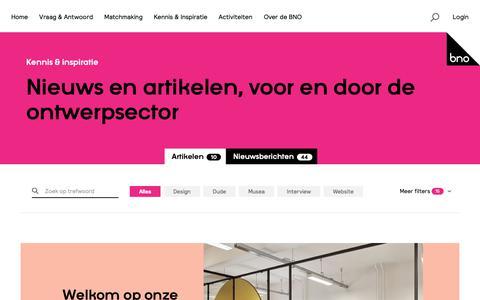 Screenshot of Blog bno.nl - Artikelen | BNO - captured Oct. 5, 2018