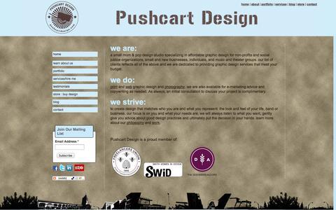 Screenshot of Services Page pushcartdesign.com - Graphic Design Services | Pushcart Design - captured Sept. 30, 2014