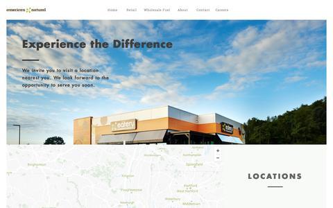 Screenshot of Locations Page americannatural.com - Locations – American Natural - captured July 30, 2018