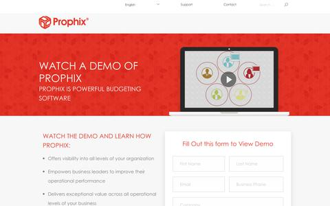 Watch the Prophix Demo | A Unified CPM Software for your Business
