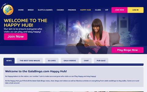 Screenshot of Press Page galabingo.com - Join Our Online Bingo Community - Gala Bingo - captured Nov. 23, 2017