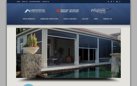 Screenshot of Pricing Page alumcenter.net - MOTORIZED SCREEN PRICING Trusted Manufacturer of Screen Patio Enclosures in Miami Dade -Broward County - captured Oct. 4, 2014
