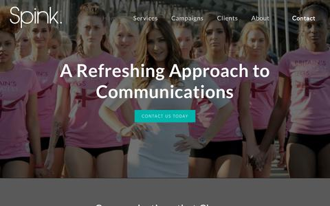 Screenshot of Home Page spinkhealth.com - Spink | The Healthcare Communications Agency - captured Oct. 20, 2018