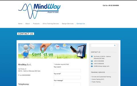 Screenshot of Contact Page mindway-design.com - Contact us   Mindway Design - captured Feb. 13, 2016