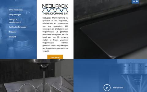 Screenshot of Home Page nedupack.nl - Home - Nedupack Thermoforming - captured Feb. 16, 2016