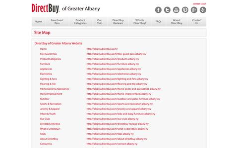 Screenshot of Site Map Page directbuy.com - DirectBuy of Greater Albany | Sitemap - captured Sept. 23, 2014