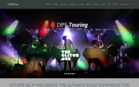 Screenshot of Home Page dpsinc.com - DPS Inc. - Lighting, Audio, Video & Sound Production Services - captured July 16, 2015
