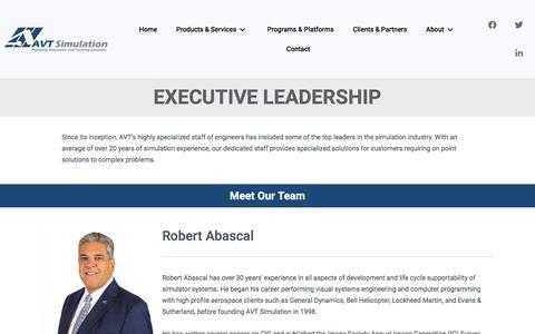 Screenshot of Team Page avtsim.com - Our Team | AVT Simulation - captured Nov. 30, 2019