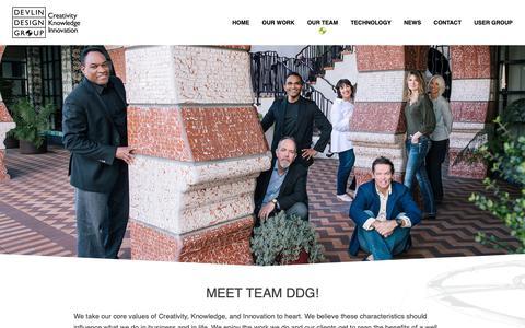Screenshot of Team Page ddgtv.com - Devlin Design Group | Our Team - Devlin Design Group - captured Oct. 9, 2018