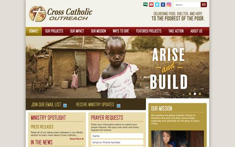Screenshot of Home Page crosscatholic.org - Cross Catholic Outreach - captured Nov. 11, 2018