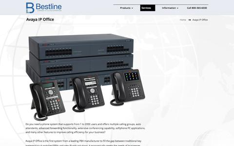 Screenshot of Services Page bestline.net - Avaya IP Office | Bestline Communications - captured Oct. 10, 2017