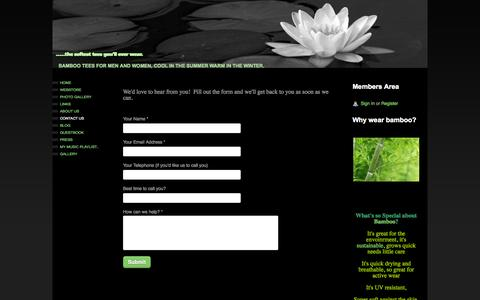 Screenshot of Contact Page webs.com - .....the softest tees you'll ever wear. - Contact Us - captured Sept. 16, 2014