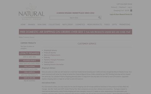 Screenshot of Support Page naturalbeautygroup.com - Customer Service - captured June 11, 2017