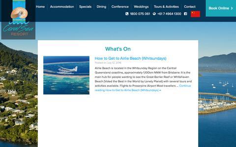 Screenshot of Blog coralsearesort.com - Blog - Coral Sea Resort - captured July 16, 2016