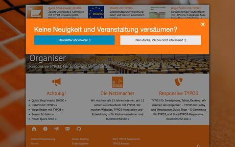 Screenshot of Home Page die-netzmacher.de - die-netzmacher.de: Responsive TYPO3-Agentur, Passau, Bayern - captured July 12, 2018