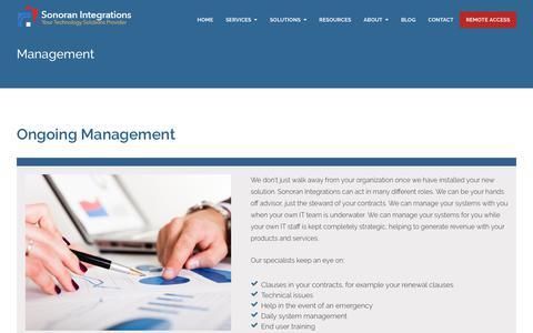 Screenshot of Team Page sonoranintegrations.com - Management - captured Sept. 21, 2018