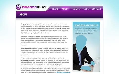 Screenshot of About Page dragonplay.com - Dragonplay - Simply the best social games in the world - captured Sept. 15, 2014
