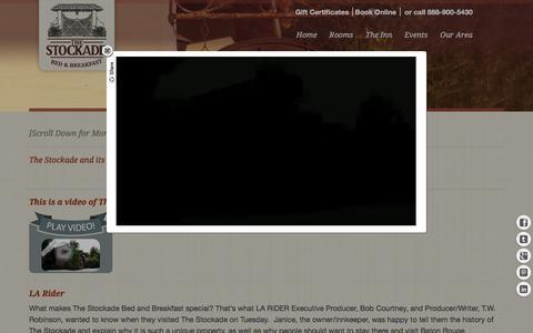 Screenshot of Press Page thestockade.com - The Stockade Bed and Breakfast of Baton Rouge Louisana - captured Feb. 28, 2016