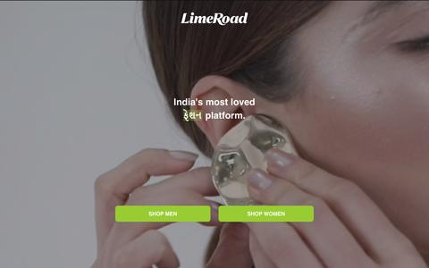 Screenshot of Home Page limeroad.com - Online Shopping Site - Shop Men & Women Fashion Online in India - captured April 5, 2019